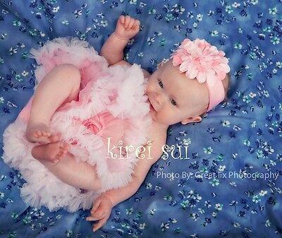 NEW Newborn Baby Light Pink White Pettiskirt Tutu Photo Prop 0-6M