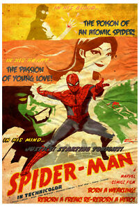 Rare-Vintage-Classic-Movie-Poster-Print-SPIDER-MAN