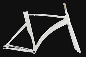 NEXUS-KONE-SINGLE-SPEED-FIXED-GEAR-TRACK-FIXIE-ROAD-BIKE-FRAME-WHITE-SIZE-50