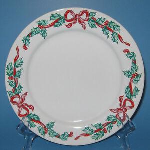 International Tableworks CHRISTMAS RIBBONS Salad Plate (s)
