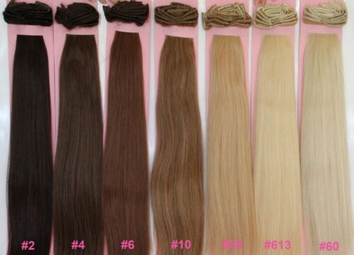 """24"""" DELUXE SET CLIP ON IN THICK REMY HAIR EXTENSIONS 300 GRAM SET BODY BLING"""