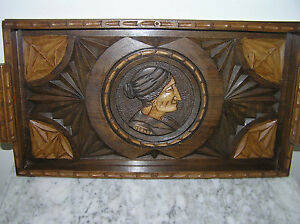 vintage wood serving trays antique carved wooden serving tray ebay 6883