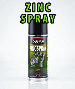 soudal zinc spray 400ml can galvanising matt finish anti corrosion 98. Black Bedroom Furniture Sets. Home Design Ideas
