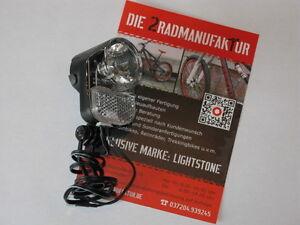 LED Beleuchtung AXA Basta Pico 30 Switch 30 Lux Nabendynamo Fahrradlampe