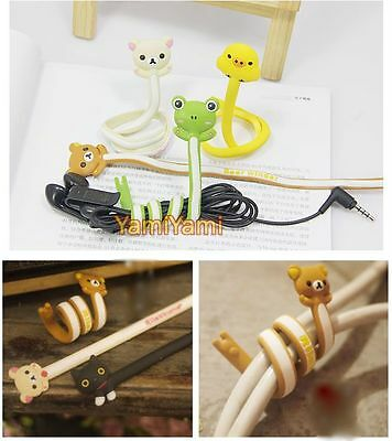 Headset Headphone Earphone Cable Cartoon Long Wrap Winder Manager Organizer