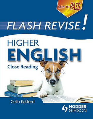 """""""AS NEW"""" How to Pass Flash Revise Higher English (How To Pass - Higher Level), E"""