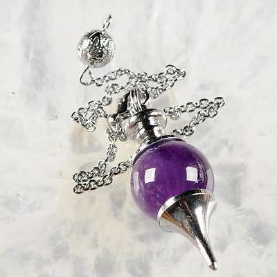 g0540 Amethyst pendulum pendant