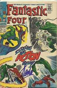 STAN-LEE-Signed-FANTASTIC-FOUR-71-Comic-Book-Spider-Man-The-Avengers