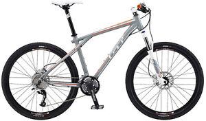 BIKE-GT-Avalanche-1-0-Disc-Grey-Orange-Medium-Mountain-Trail-Bicycle-2012-New
