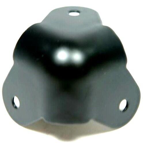 4 x black 3-leg metal cabinet corners for amplifier