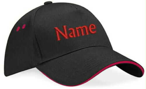 Basecap individuell BESTICKT mit Namen Text Cap Sport Cappy Caps Mütze Hut Mütze