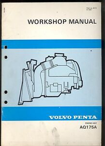 1981 volvo penta engine unit aq 175a workshop manual ebay. Black Bedroom Furniture Sets. Home Design Ideas
