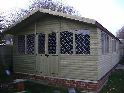 30 x 14 ULTIMATE LOG CABIN SUMMER HOUSE OFFICE BAR SHED TOP QUALITY GRADED TIMBE