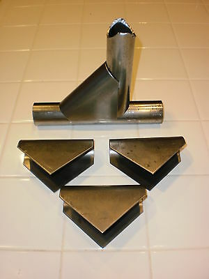 """1.5"""" taco gusset weld saddle gusset for tubing roll bar cage welding tab brace"""