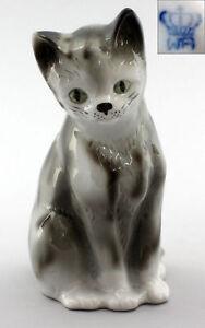 9942186-Porcelain-Figurine-Wagner-amp-Apel-Chairman-Cat-Grey-Mackerel-Tabby-H16cm