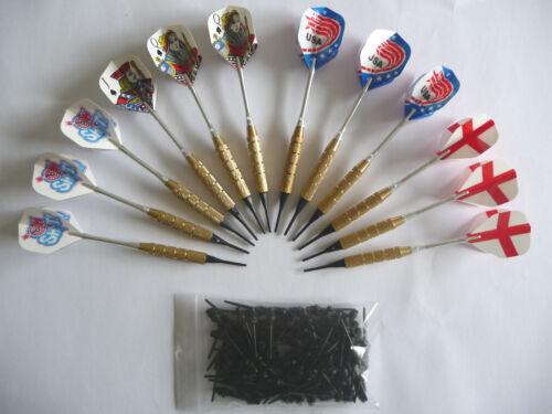 12 flechettes laiton darts àpointes plastiques 100 pointes