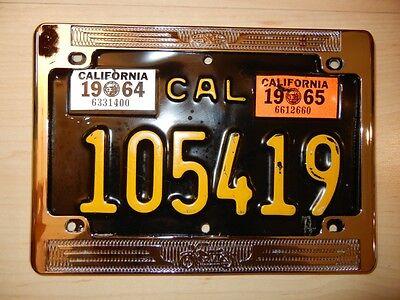 "1960's large size 5""x 8"" vintage California chrome license plate frame BRAND NEW"