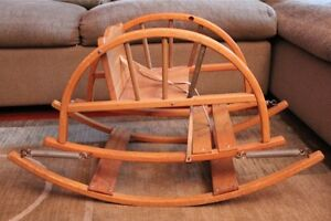 Teetertot Teeter Totter Vintage Wooden Child Rocking Chair