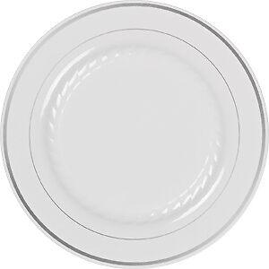 MASTERPIECE-PLASTIC-PLATES-50-PREMIUM-HEAVYWEIGHT-PLASTIC-Wedding-Like-China