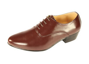 Mens Cuban Heel Brown Shoes