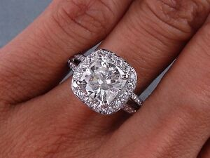 3-19-CARATS-CT-TW-CUSHION-CUT-DIAMOND-ENGAGEMENT-RING-H-SI2-SI3