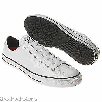 MEN'S Converse Chuck Taylor ALL STAR Formal, Shiny White Patent Leather Oxford