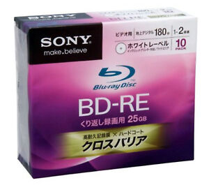 Made-in-Japan-10-Bluray-DVD-Sony-25GB-BD-RE-2X-Rewritable-Blu-Ray-Disc-Bluray-RW