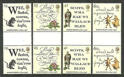 1996 Robert Burns Gutter pairs 1901 to 1904 Mint nh