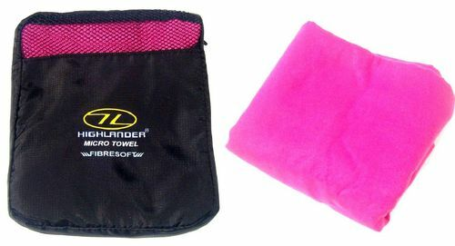 LADIES LUXURY HOT PINK XL MICROFIBRE BATH TOWEL + bag Gym sport travel camping