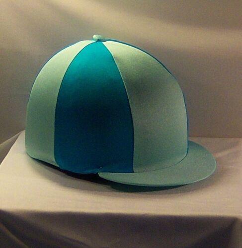 AQUA /& TURQUOISE RIDING HAT COVER