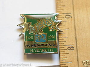 Indy-World-Series-15th-Anniversary-PPG-Racing-pin-gt-1994-Vancover-Race-Track
