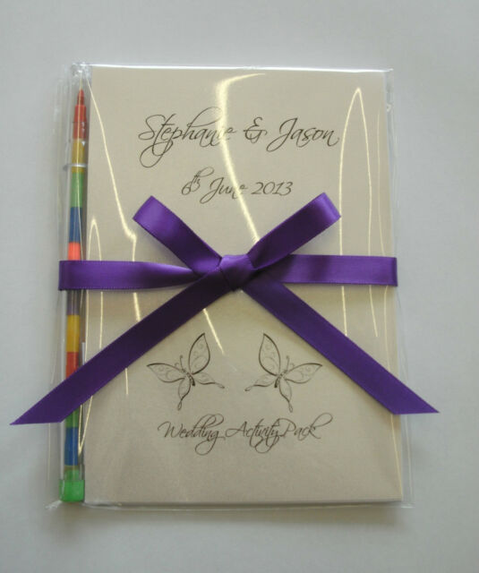 Personalised Children Wedding Activity Pack Book Bag Ideal Gift Favour