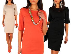 Womens-Classic-Elegance-Shift-Dress-Tunic-Style-Size-8-16-FA18