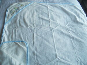 New Boy Baby Blanket by Baby Stuff White 100% Cotton LOOK!