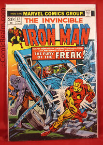 The-Invincible-Iron-Man-67-1974-Marvel-Return-of-the-Freak-Tony-Stark-B-B-VF