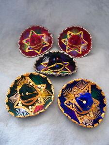 SET-OF-5-MEXICAN-MINI-CHARRO-HATS-PARTY-FAVORS-DECORATIONS-SOMBRERO-MARIACHI