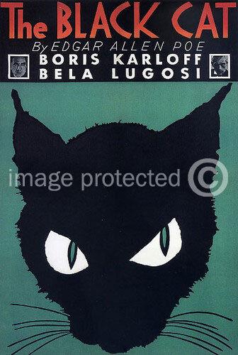Vintage Bela Lugosi Horror Movie Poster Black Cat