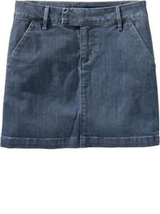 NWT OLD NAVY FLAT FRONT DENIM SKIRT CUTE SIZE 4