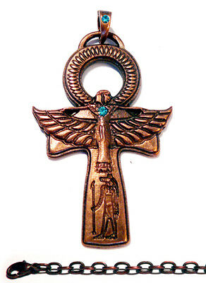 ANKH+CHAIN AB Pendant Amulet Necklace Antique Jewelry