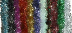 10-PACK-of-6PLY-X2-24M-16cm-DIAMETER-LUXURY-TINSEL-GARLAND-CHRISTMAS-DECORATION
