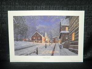 Phillip-Philbeck-034-Dusk-Lights-034-Winston-Salem-Snowy-Town-Open-Edition-Lithograph