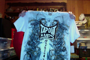 MMA TAP OUT WHITE T SHIRT SIZE EXTRA LARGE NEW WITH TAGS