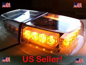 warning amber led mini light bar ems security snow plow truck ebay. Black Bedroom Furniture Sets. Home Design Ideas