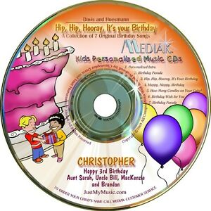 Hip-Hip-Hooray-it-039-s-your-Birthday-Personalized-Music-CD
