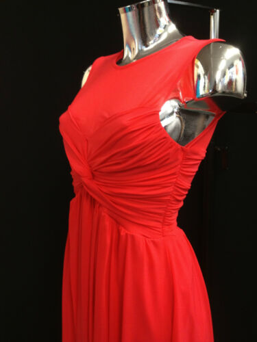 Sizes 8-14 Womens Ladies Plain Gathered Twist Creased Party Style Dress