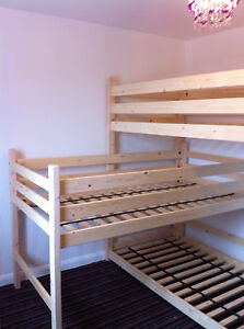 Tri-bunk-Triple-bunks-L-shaped-bunk-3-high-bunks-can-be-made-to-your-length