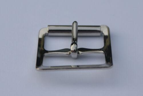 """10 Acero prensado Roller Hebillas 1 /""""de 25 mm-de latón chapado-laminado en níquel"""