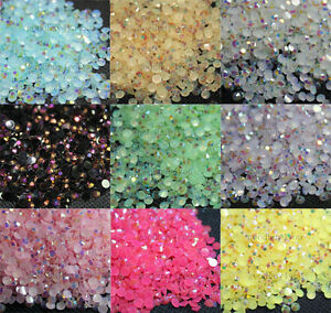 2000pcs-Resin-Jelly-Rhinestone-Gems-Flatback-Round-3mm-10-Colors-For-You-Pick