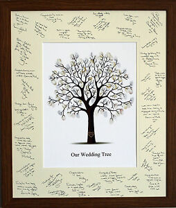 guest signing signature frame with fingerprint tree wedding image is loading guest signing signature frame with
