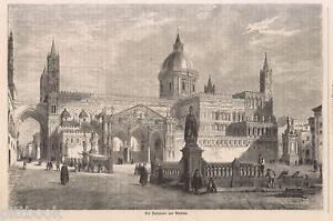 1860 Palermo xilografia